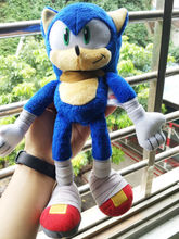 "2016 Sonic the Hedgehog 12"" ""Sonic Boom"" Sonic Plush Toy(China)"