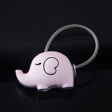 1 pcs Lovely Elephant gift bag pendant key ring Trinket key chains car keychain chaveiro innovative Items(China)