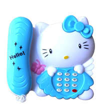 Kitty Mobile Baby Phone Toy For Children Interactive Educational Musical Toys Phone With Sound And Light As Gift For Little Kids