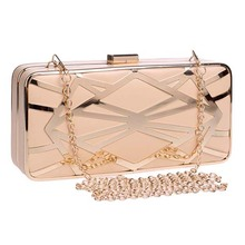 Luxury Hollow out Clutch Bag Acrylic Clasp Evening Clutch Purses For Paryt And Wedding Handbags Bridal Chains Shoulder Wallet