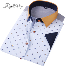 DAVYDAISY Men Casual Shirt Short Sleeve 2017 Summer High Quality Fashion Printed Shirts Male Dress Brand Clothing DS-133