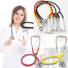 Free shipping Dual Basic Stethoscope Head Doctors Nurses Clinical Medical First Aid EMT Health(China)