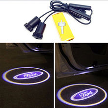 Car Door Lights For Ford Logo Projector For Ford focus 1 2 3 fiesta mondeo transit fusion kuga ranger mustang ecosport v8