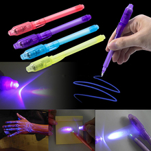 2017 Multifunction Magic Led Lights Invisible Yanchao Light Pen 2 In 1 Uv Black Light Combination Of Creative Stationery Ink Pen