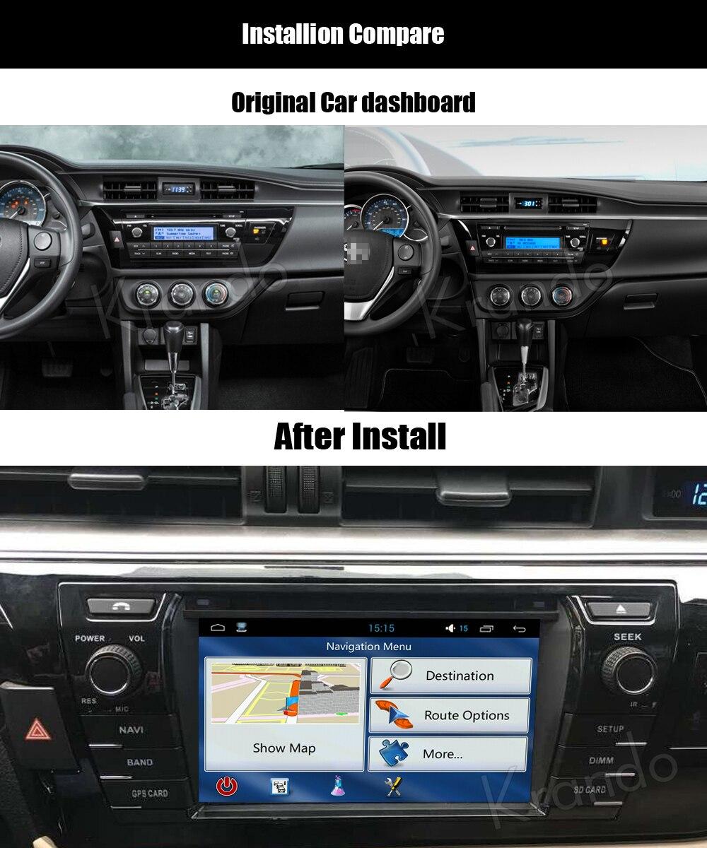 Krando toyota corolla Android car radio gps navigation multimedia system