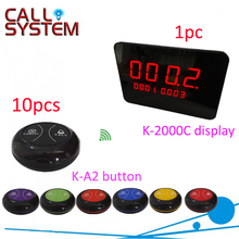 Wireless Waiter Buzzer Table Call Button Device (1 counter receiver 10 transmitter)(China)