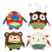 Animal Cloth Baby Hand Grasp Ball Bell Paper Toys Rattles - Tomy toy kingdom store