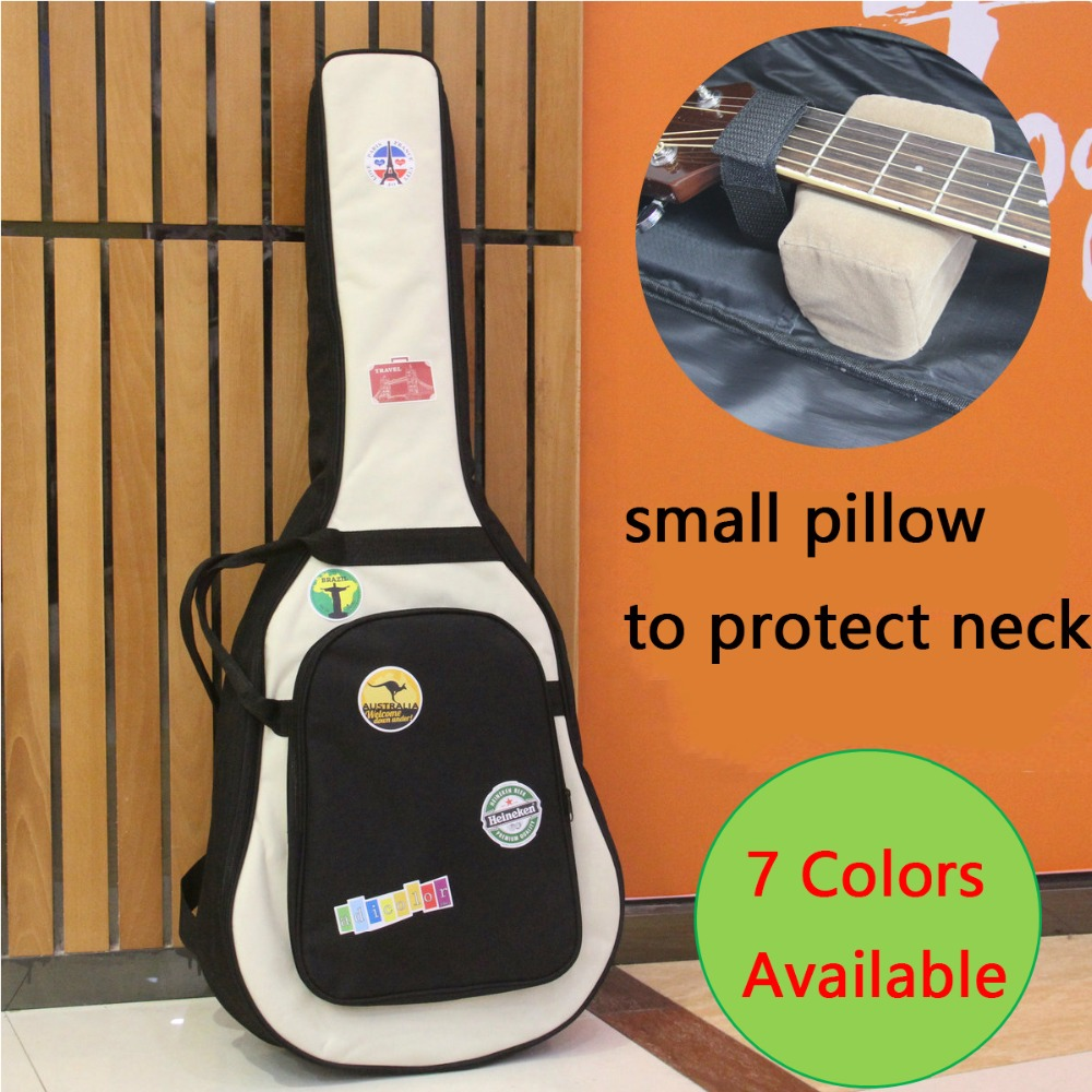 Guitar Bag Case Backpack Guitarra Bass Parts Waterproof Thicken 38 39 40 41 Inch Steel-String Classical Nylon Carry Gig Canvas<br>