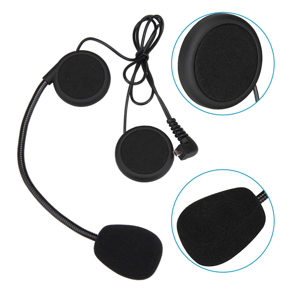 Top Deals 500M Motorcycle Helmet Bluetooth Headset Earphone Wireless Intercom<br>