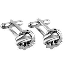 Funny Round Knot Design Cufflinks Silver Gold Hollow Cuff Links For Mens Women Cool Shirt Spinki Jewelry Male Cufflings Jewelry(China)
