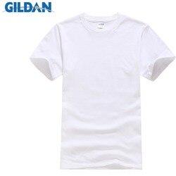Мужская обтягивающая однотонная футболка с коротким рукавом и круглым вырезом