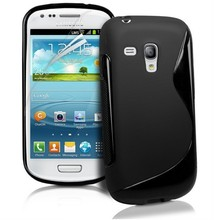 8 Color S Line Gel TPU Slim Soft Anti Skiding Case Back Cover For Samsung Galaxy S3 mini i8190 Mobile Phone Rubber silicone Bag(China)