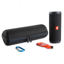 2017 Newest Carry Travel Protective Cover Case Pouch Bag For JBL Flip 4 Flip4 Bluetooth Column Extra Space For Plug & Cables