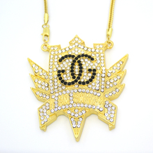 New Bling Bling Iced Out I Am Swagg Large Size Crystal pendant Hip hop Necklace Jewelry for men women N633(China)