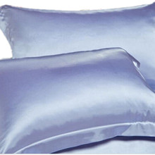 Summer New Silk Satin Soft Pillow Cases Standard Comfort Solid Protector Pillows Case(China)