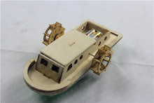 NIDALE Model Free shipping Laser-cut wood speedboat model kitAntique yacht puzzle model Children's educational toys