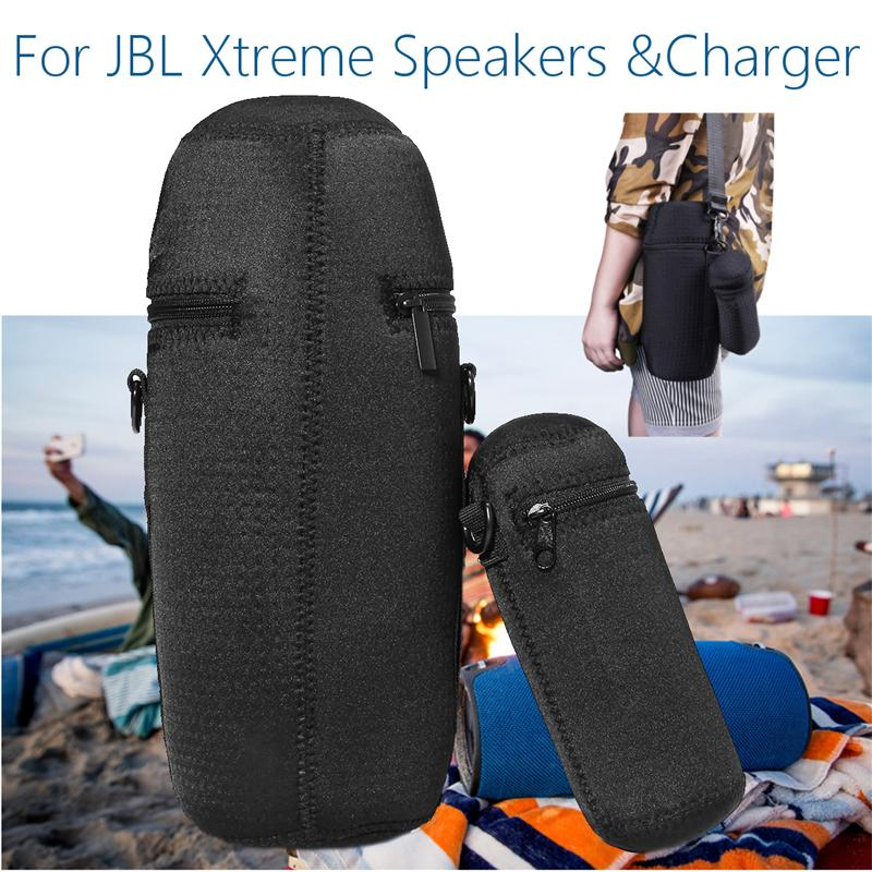 Outdoor Portable travel cover For Lycra Zipper Carrying Case Bag For JBL Xtreme Bluetooth Speaker Charger