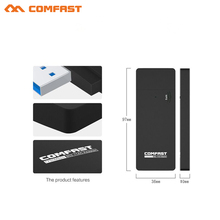 COMFAST 1750M gigabit usb wifi adapter USB3.0 wi fi soft AP router 802.11ac dual band 5Ghz USB WiFI receiver dongle for laptop(China)