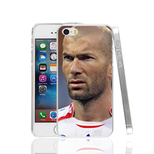 19821 french football Zidane Cover cell phone Case for iPhone 4 4S 5 5S SE 5C 6 6S Plus 6splus