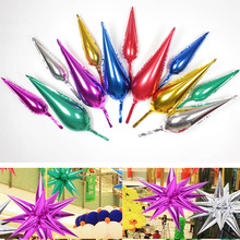 New arrival market decorations DIY Explosive star balloon Water droplets light foil balloons Event party supplies 50pcs/lot(China)
