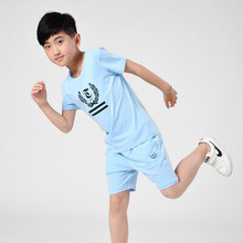Boy Summer Set 2017 New Children's Wear Child Short-sleeved T-shirt Suit 7-16 Years Old(China)