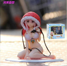 Sexy Super Sonico Swim Wear Bikini Christmas Lingerie Version Boxed PVC Action Figure Collection Model Toy Free Shipping