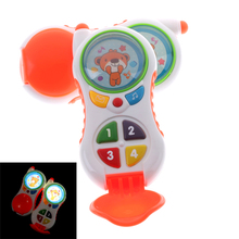 Baby Musical Phone Toy Kids Electronic Mobile Phone with Sound Children Learning Study Educational Playing Toys Christmas Gifts(China)