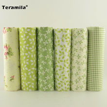 Teramila Twill Cotton Fabric Patchwork For Sewing Quilting Bundle Clothes Telas Handmade Tissues Scrapbooking 6pcs 40cmx50cm(China)