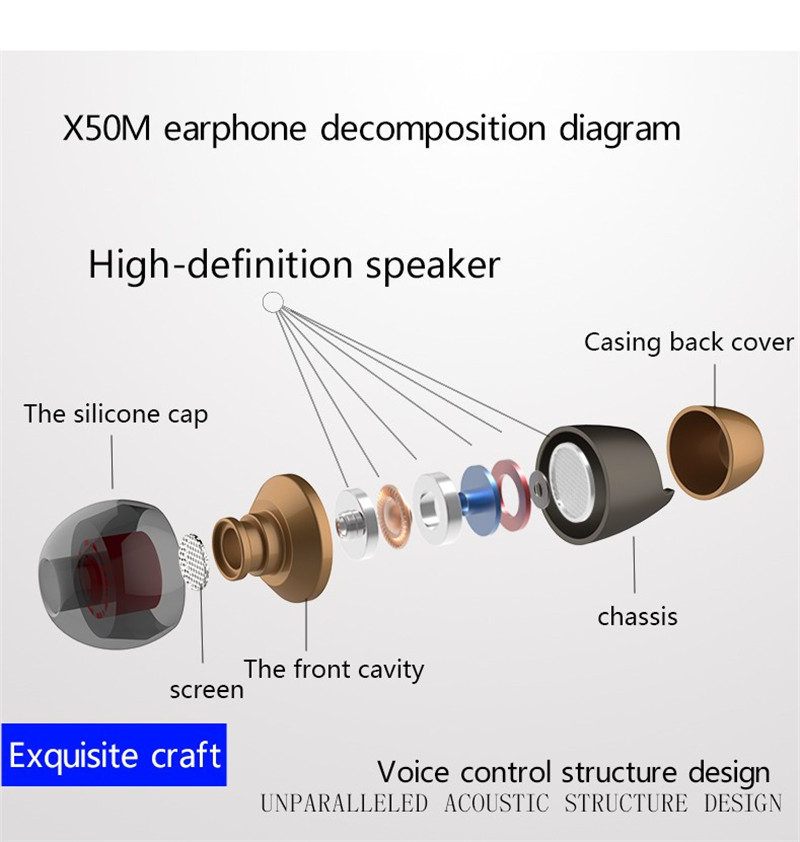 PLEXTONE X50M Magnetic Sport In-ear Earphone Stereo Noise Cancelling Bass Headset 3.5mm Plug With Mic For Xiaomi Iphone Samsung