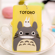 Hot Sale Card Holder Bags Cute Animal Cartoon Bus Name ID Hanging School Job Id Card Passport Holder With String(China)