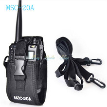 walkie talkie case MSC-20A Holder Pouch Bag For Kenwood BaoFeng UV-5R UV-5RA UV-5RB UV-5RC UV-B5 UV-B6 BF-888S Radio Case Holder(China)