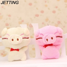 JETTING 2017 Cute Cartoon Pig Decor Plush Cell phone Charm Piggy Stuffed Mobile Phone Straps Color Random 1 Pc(China)