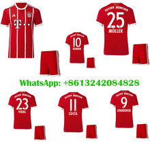 Hot sales 2017 Top Best Qualit Bayerning Muniching adult Long sleeves kit +sock soccer jersey 17 18 Home Away 3RD Free shipping