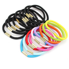 10Pcs Fashion Headband Solid Colorful Hair Accessories Simple Practical Elastic Hair Band Rubber Hair Clip for Women Girl