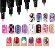 16 Colors Nail Art Pen for 3D Nail Art DIY Decoration Nail Polish Pen Set 3D Design Nail Beauty Tools Paint Pens 1pcs Wholesale