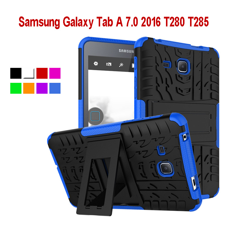 Tablet Case For Samsung Galaxy Tab A 7.0 T280 T285 Hybrid Armor Kickstand Hard Cover for Samsung Galaxy Tab A 7.0 2016+pen KF436<br><br>Aliexpress