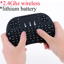 2.4Ghz wireless mini keyboard with touchpad and remote control for TV box and smart TV recharging lithium battery inside(China)