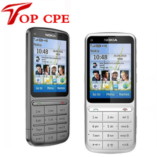Refurbished NOKIA C3-01 Unlocked 3G,GSM,WIFI,Bluetooth,JAVA,5MP Camera C3-01 Mobile Phone Free Shipping! Russian keyboard(China)