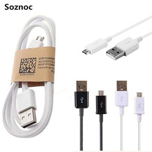 Soznoc High quality 1m 3Ft  v8 micro usb 2.0 Charging Cable for Samsung Galaxy S3 S4 for LG G3 G4 For Android phone Data cable