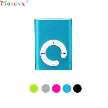 Mosunx Factory Price Mini Clip Metal USB MP3 Player Support Micro SD TF Card Music Media 60427X13