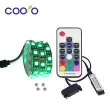 50/100/120/200CM Magnetic RGB LED Strip Light Computer Case Light Fixed by Magnet Easy Disassembly(China)