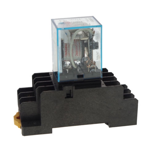 10pcs 110/220VAC 5A Coil Power Relay JQX-13F MY3NJ HH53PL 11Pins 3PDT Socket<br>