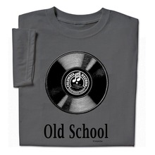 Funny Old School Music T Shirt LP Record Album Vinyl Geek Adult Funny Printing T Shirts Men Short Sleeve T-shirts