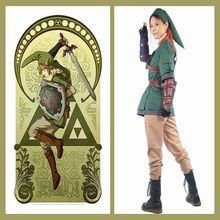 The Legend of Zelda Dress Link Costume Outfit COSplay Full Suit Uniform Game Pops Replica(China)