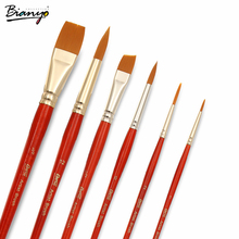 Bianyo Art Brush Paint Brushes 6Pcs/Set Painting Brushes Waterbrush Pen For Artist Handcrafted Drawing Supplies Aqua stationery(China)