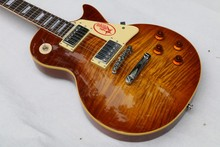 Classic LP 1959 R9 Tiger Flame les Electric guitar with Chrome hardware, Maple body LP standard guitar,Free shipping