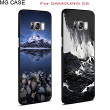 Sea wave Ocean phone case for Samsung Galaxy note8 S6 S6edge S7 S7edge fashion snow mountain Galaxy S8 S8plus cover shell cases(China)