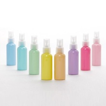 Breeze PET Empty Colorful Cosmetic Sprayer Top Cap Plastic Bottle 50ml Plastic Spray Astomizer Container