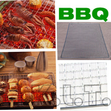1PCs Grid Design Field Electric oven Grilled Mesh Special-Purpose Barbecue tool for Roast fish meat Grill BBQ Barbacoa