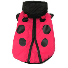 Ladybug Costume Medium Dog Clothes Windproof Trench Coat Dog Hoodie Costume Dog Winter Coat Cosplay Costume Fancy Dress